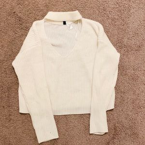 H&M choker knit sweater